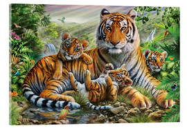 Akrylbillede  Tiger and Cubs - Adrian Chesterman