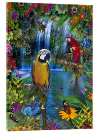 Akrylbillede  Bird Tropical Land - Alixandra Mullins