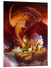 Akrylbillede  Children of the Dragon - Jeff Easley