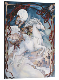 Print på aluminium  Child Riding On Horse - Jody Bergsma