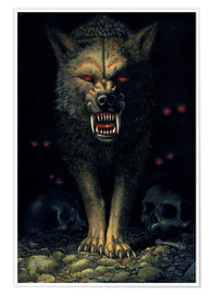 Premium-plakat  Demon wolf - Chris Hiett