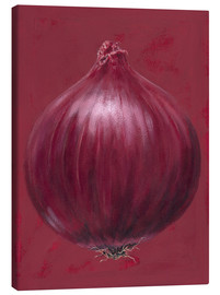 Lærredsbillede  Red onion - Brian James