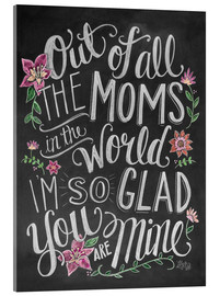 Akrylbillede  Best mom of the world - Lily & Val