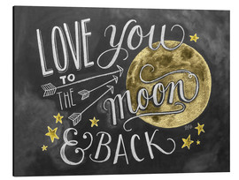 Print på aluminium  Love you to the moon - Lily & Val
