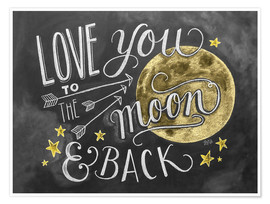 Premium-plakat  Love you to the moon - Lily & Val