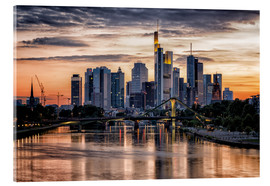 Akrylbillede  Frankfurt Skyline Sunset Skyscrapers - Frankfurt am Main Sehenswert