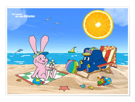 Premium-plakat  Elephant and Hare go on holiday