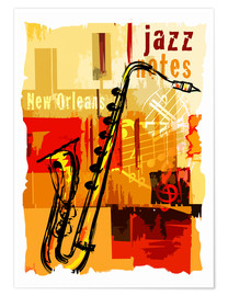 Premium-plakat Jazz notes