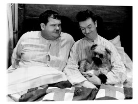 Akrylbillede  Bedtime with Laurel & Hardy