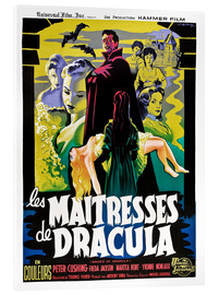 Akrylbillede  THE BRIDES OF DRACULA (LES MAITRESSES DE DRACULA), David Peel