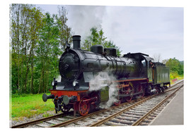 Akrylbillede  Old Steam Locomotive in the Black Forest - FineArt Panorama