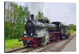 Print på aluminium  Old Steam Locomotive in the Black Forest - FineArt Panorama