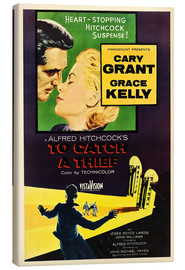Lærredsbillede  TO CATCH A THIEF, Alfred Hitchcock, Cary Grant, Grace Kelly