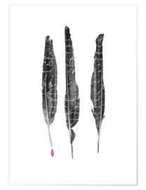 Premium-plakat  The author's feathers - Sybille Sterk