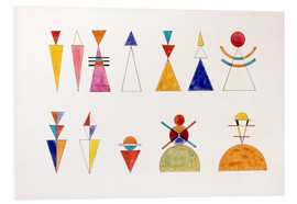 Print på skumplade  Sketch for picture XVI, The Great Tower of Kiev - Wassily Kandinsky