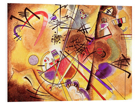 Print på skumplade  Small dream in red - Wassily Kandinsky