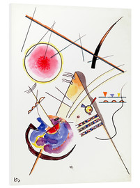 Print på skumplade  Watercolor from the Hess Guest Book - Wassily Kandinsky