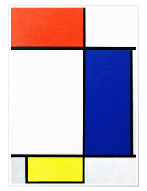 Premium-plakat Composition with red, yellow, blue