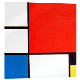Akrylbillede  Composition II in Red, Blue, and Yellow - Piet Mondrian