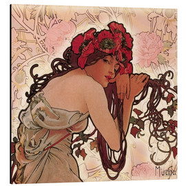 Print på aluminium  The Seasons 1896: Summer (detalje) - Alfons Mucha