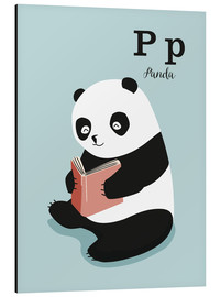 Print på aluminium  The animal alphabet - P like Panda - Sandy Lohß