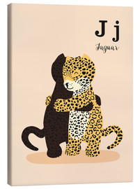 Lærredsbillede  The Animal Alphabet - J like Jaguar - Sandy Lohß