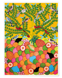 Premium-plakat Fruits and birds