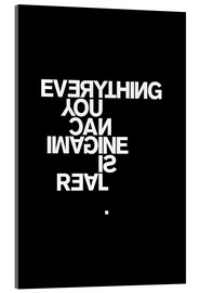 Akrylbillede  Everything you can imagine is real (Picasso), sort - THE USUAL DESIGNERS