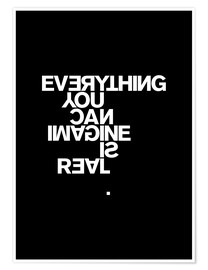 Premium-plakat  Everything you can imagine is real (Picasso), sort - THE USUAL DESIGNERS