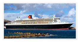 Premium-plakat  Queen Mary 2 in the port of La Palma - MonarchC