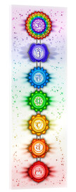 Akrylbillede  The Seven Chakras - Series V - Artwork II - Dirk Czarnota