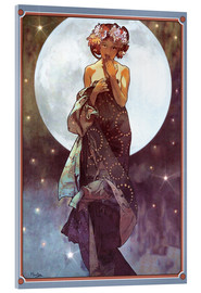 Akrylbillede  The Moon, adaptation - Alfons Mucha