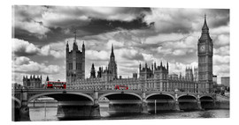 Akrylbillede  LONDON Westminster Bridge Panoramic - Melanie Viola
