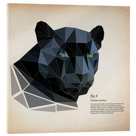 Akrylbillede  fig6 polygon Panther square - Labelizer