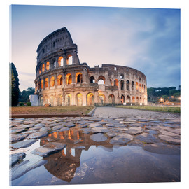 Akrylbillede  Colosseum reflected into water - Matteo Colombo