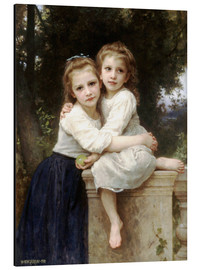 Print på aluminium  Two sisters - William Adolphe Bouguereau