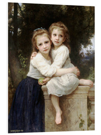 Print på skumplade  Two sisters - William Adolphe Bouguereau