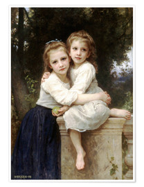 Premium-plakat  Two sisters - William Adolphe Bouguereau