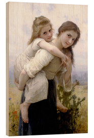 Print på træ  Not hard to bear - William Adolphe Bouguereau