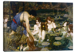 Lærredsbillede  Hylas and the Nymphs - John William Waterhouse