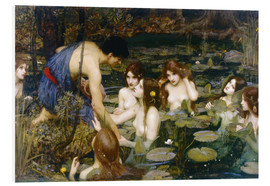 Print på skumplade  Hylas and the Nymphs - John William Waterhouse