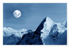 Premium-plakat Full moon on the Eiger