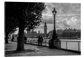 Akrylbillede  London black and white - Filtergrafia