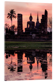 Akrylbillede  Wat Mahathat in evening light - Matteo Colombo