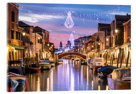 Akrylbillede  Canal in Venice at Christmas - Matteo Colombo