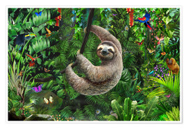 Premium-plakat Sloth in the jungle
