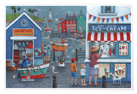 Premium-plakat  Seaside icecreams - Peter Adderley