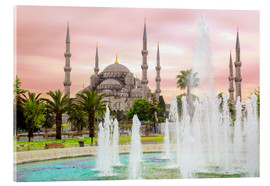 Akrylbillede  the blue mosque (magi cami) in Istanbul / Turkey (vintage picture) - gn fotografie