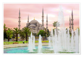 Premium-plakat  the blue mosque (magi cami) in Istanbul / Turkey (vintage picture) - gn fotografie