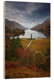 Print på træ  Glenfinnan Monument - Scotland - Martina Cross